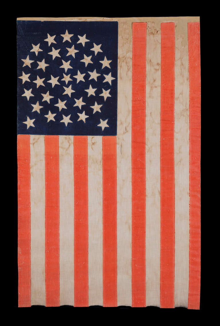 33 Stars In A Medallion Configuration On A Large Scale Parade Flag image 2