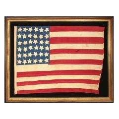 36 Stars, Civil War Era, 1864-1867, Nevada Statehood