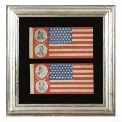 McKinley & Roosevelt vs. Bryan & Stevenson, A rare pair of Flags
