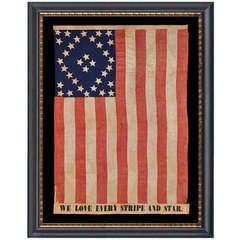 Spectacular 34 Star Civil War Flag