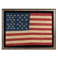HOMEMADE 34-STAR CIVIL WAR FLAG