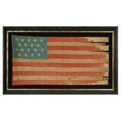 18 Star, 11 Stripe, Louisiana Secessionist Flag, Civil War Era