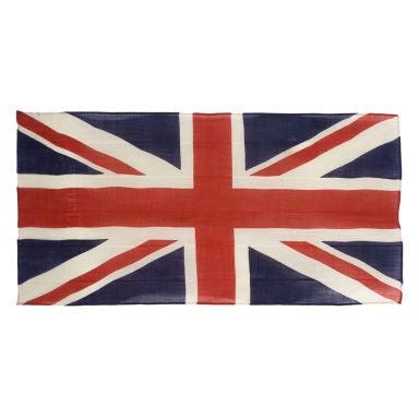 BRITISH UNION JACK, PRESS-DYED WOOL, WWI-WWII ERA (1914-1945)