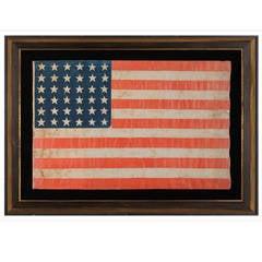 36-Star Antique Parade Flag of the Civil War Era