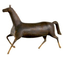 Masterpiece Folk Carving Of A Horse, Last Quarter 19th Century: