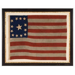 """13 Star Flag With Stars in a Very Rare """"Trumbull"""" Configuration"""