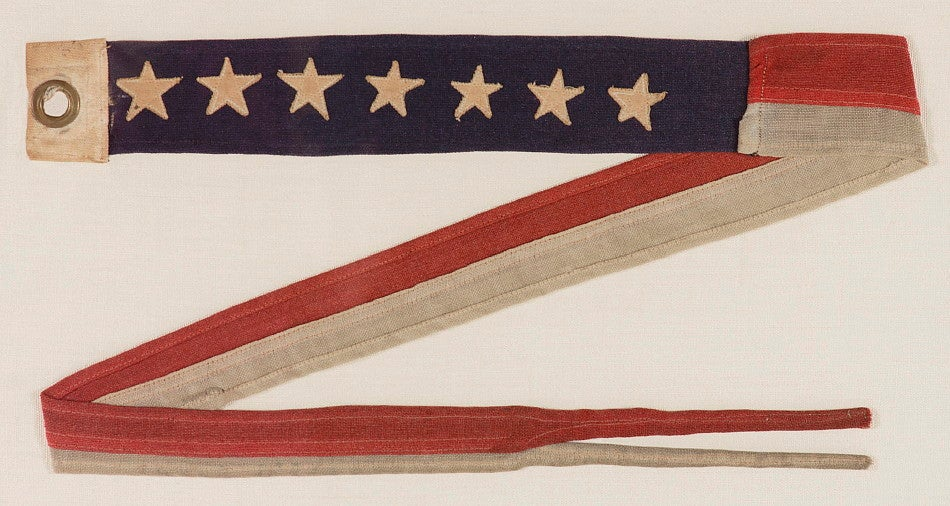 U S Navy Commissioning Pennant With 7 Stars Wwi Wwii Era