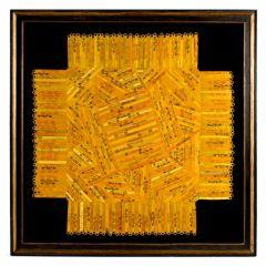 Gerahmtes Stückwerk aus Cigar Silk