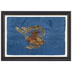 Civil War Regimental Flag with a Dramatic Wartime Eagle