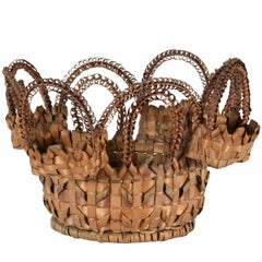 Extraordinary Passamaquoddy (Maine) Native American Sewing Basket, Dated 1891