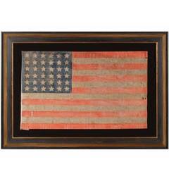 36 Star Antiques American Parade Flag of the Civil War Era