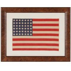 42 Star, Washington Statehood Antique Flag