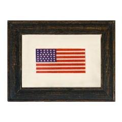 38 Star American Flag Ribbon, Colorado Statehood, 1876-1889: