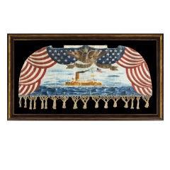 Iotic Banner Depicting The U.S.S. Monterey