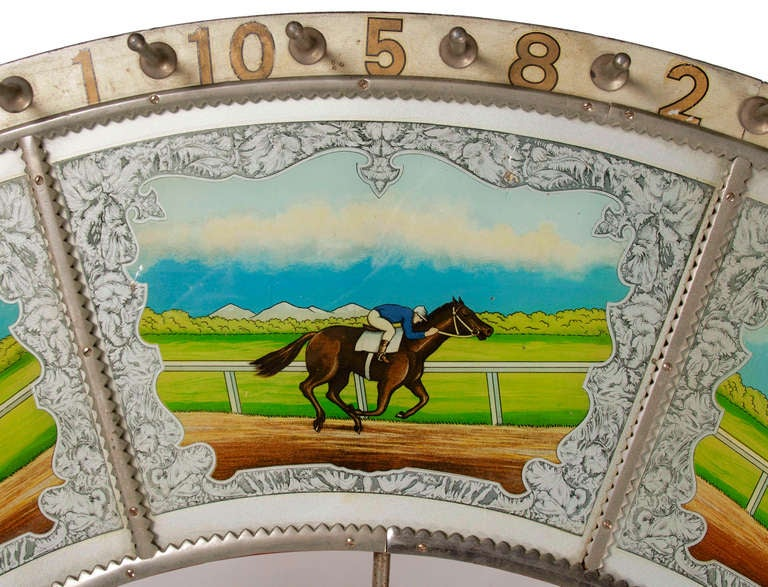 Race Horse Game Wheel Made By H C Evans Chicago Il At