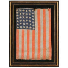 38 Large Stars American Parade Flag With Bold Coloration: