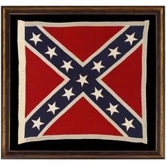 Confederate Southern Cross Battle Flag, Reunion Era, Made in Richmond, Virginia