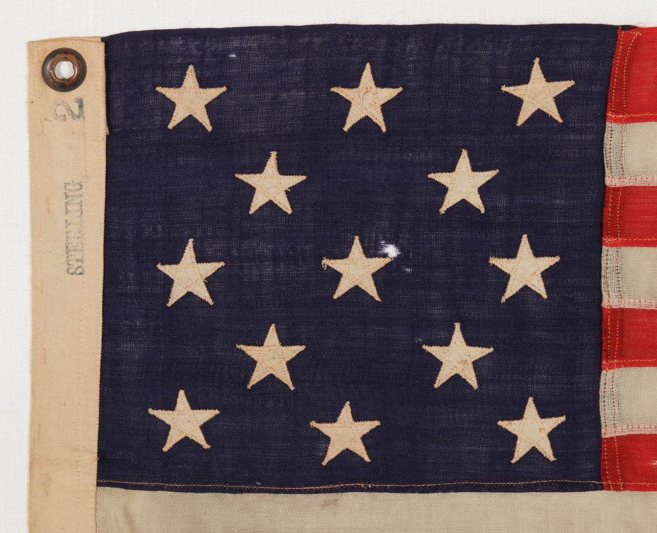 13 star flag with stars arranged in a 3 2 3 2 3 lineal 13 star flag with stars arranged in a 3 2 3 2 publicscrutiny Image collections