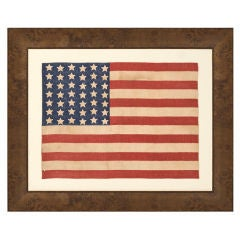 42 Stars In A Wave Configuration American Flag
