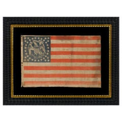 Extremely Rare Parade Flag With 36 Stars And An Eagle