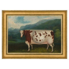 Folk Painting Of A Prize Cow, Ca 1880: