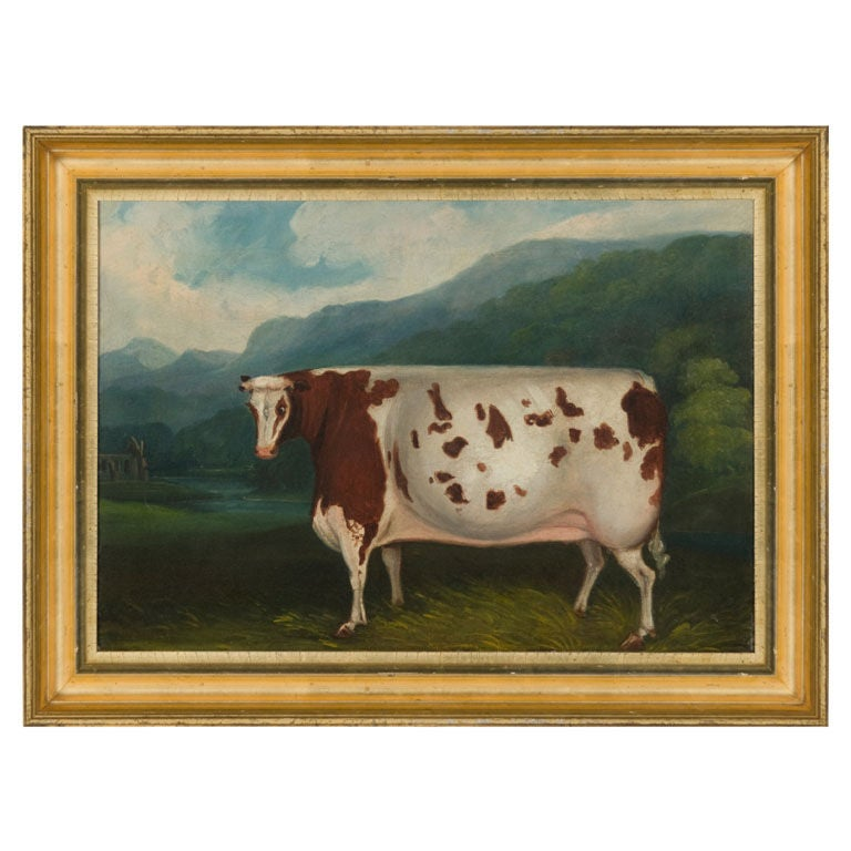 Folk Painting Of A Prize Cow Ca 1880 At 1stdibs