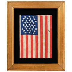 Thirty-Seven Star Flag in a Very Rare Diamond Configuration
