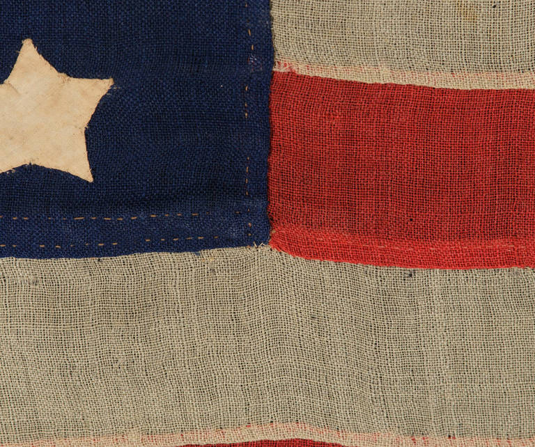 37 Star Flag in a Whimsical Representation of the
