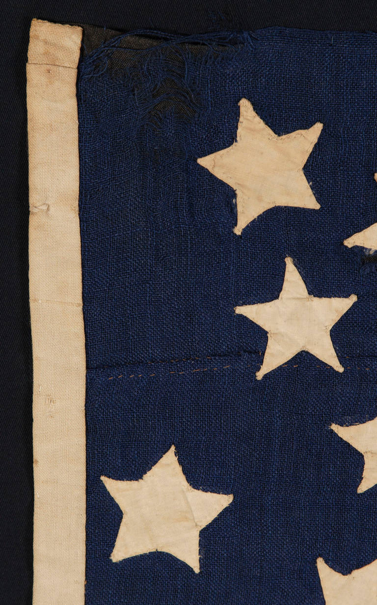 19th Century 37 Star Flag in a Whimsical Representation of the