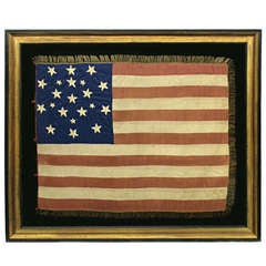 Exceptionally Rare And Early 21 Star American National Flag