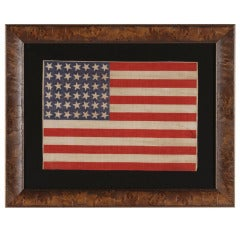 42 Star Antique American Parade Flag, An Unofficial Star Count, 1889-90