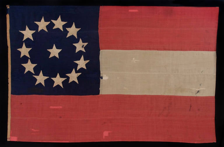 Entirely Hand Sewn Confederate First National Stars And