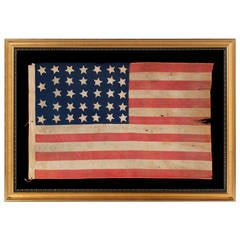 34 Stars, Entirely Hand-Sewn, Civil War Period Flag