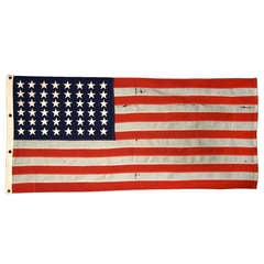 WWII Period 48 Star Flag, made by the U.S. Navy at Mare Island, California