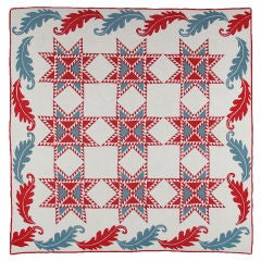 Rare Patriotic Quilt In The Star Spangled Banner Pattern