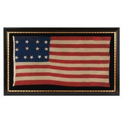 Exceptionally Rare 13 Star Flag in a 4-4-5 Lineal Pattern