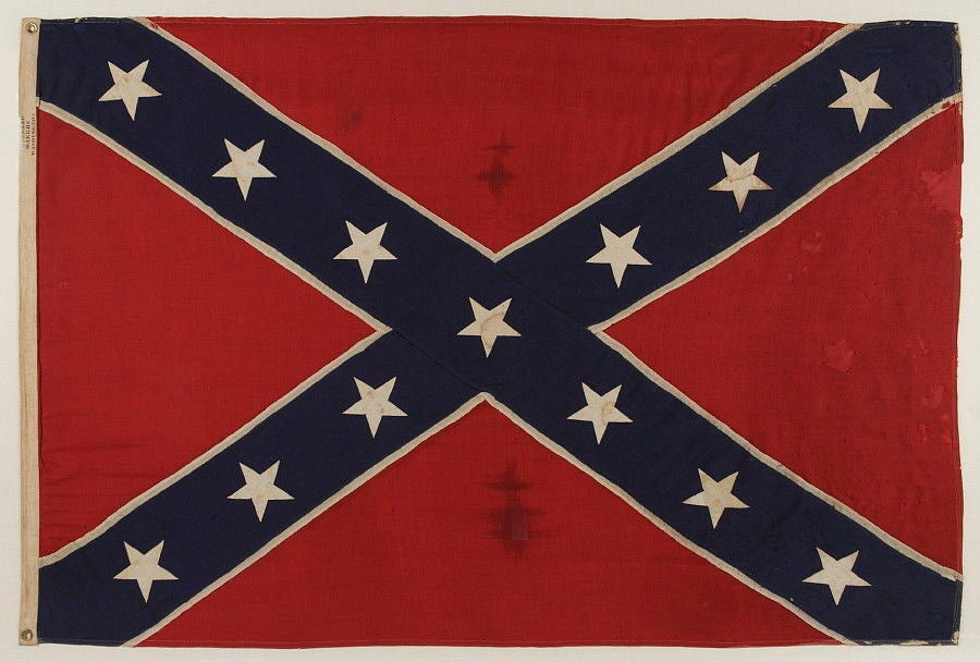 Confederate Southern Cross Navy Jack / Battle Flag at 1stdibs