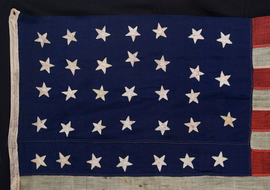 34 Star Civil War Flag Made For Commodore Stephen Decatur 2