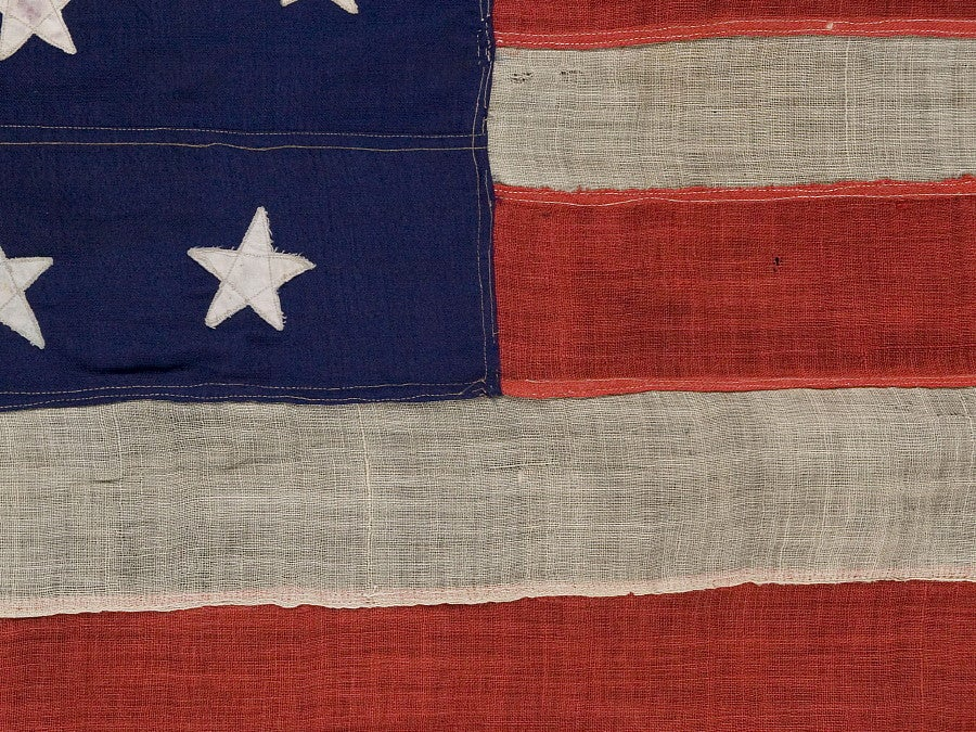 34 Star Civil War Flag Made For Commodore Stephen Decatur 3
