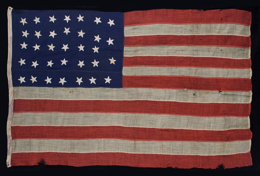 34 Star Civil War Flag Made For Commodore Stephen Decatur 5