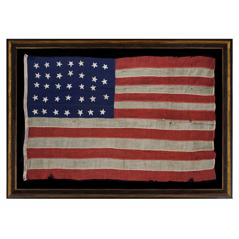 34 Star Civil War Flag Made For Commodore Stephen Decatur 1