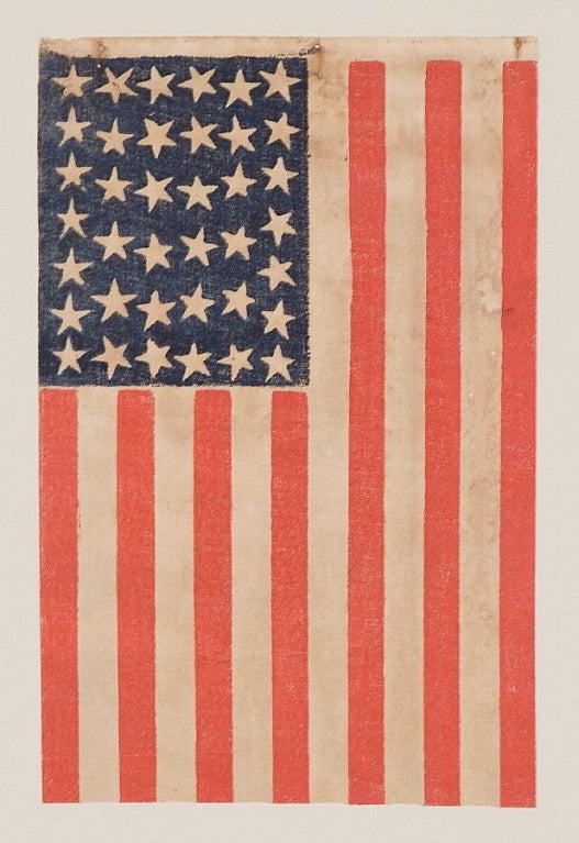 38 Stars, Colorado Statehood, Scattered Star Flag image 2