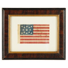 13 Star Flag With A Rare Example  Gold Overprint