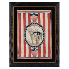1876 Centennial Celebration Parade Banner With George Washington