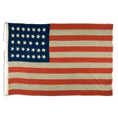 34 Star Flag, Civil War Period, 1861-63, Kansas Statehood
