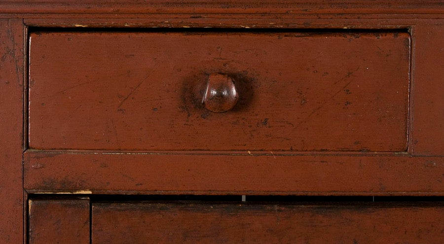 Pennsylvania Jelly Cupboard In Tomato Red Painted Surface 1