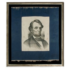 Abraham Lincoln Memorial Banner With A Dramatic Portrait Image