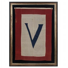 "WWII ""V"" FOR VICTORY BANNER, 1945:"