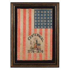 Extremely Rare 36 Star Flag With A Six Color Overprint