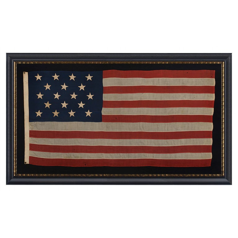 18 Star and 13 Stripes American Flag For Sale